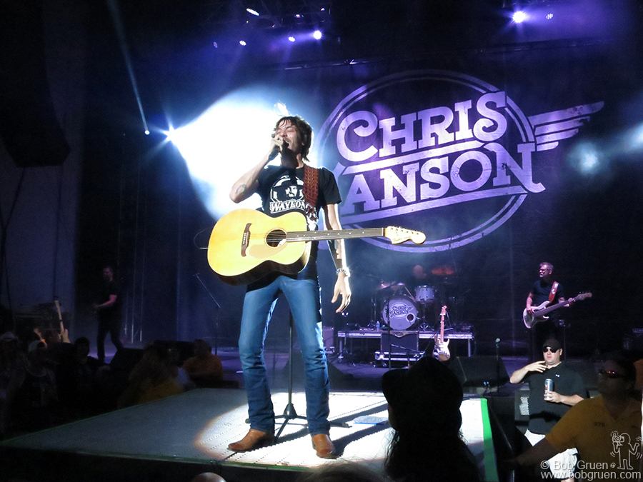 "Aug 7 – Homdel, NJ – Chris Janson on stage at PNC Arts Center. Chris wrote and recorded my favorite song of the summer, ""Buy Me A Boat""."