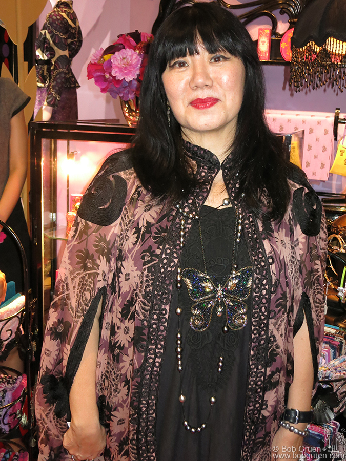 Sept 17 – NYC – Anna Sui looked great at the opening of her new store on Broome Street in Soho.