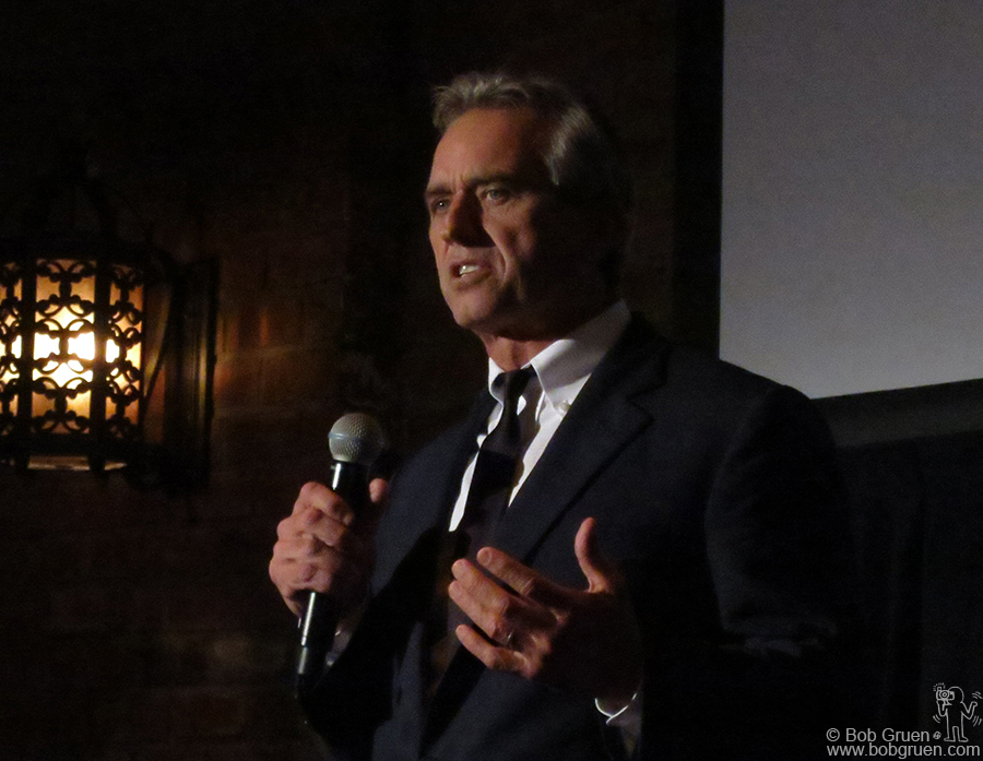 Sept 28 - NYC - Robert Kennedy Jr. was a speaker at the Turtle Conservancy Benefit at the Bowery Hotel.