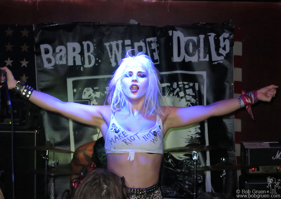 Oct 2 - Brooklyn, NY - Barb Wire Dolls brought an energy filled night to the Grand Victory club.