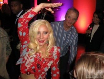 "Oct 19 - NYC - Lady Gaga danced with Bill Murray at the party for his new film ""Rock the Kasbah""."
