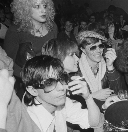 Iggy Pop, Nancy Spungen, Cyrinda Fox & David Bowie, NYC - 1977