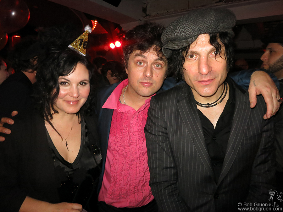 Dec 31 - NYC - Adrienne and Billie Joe Armstrong and Jesse Malin ring in the New Year at Berlin.