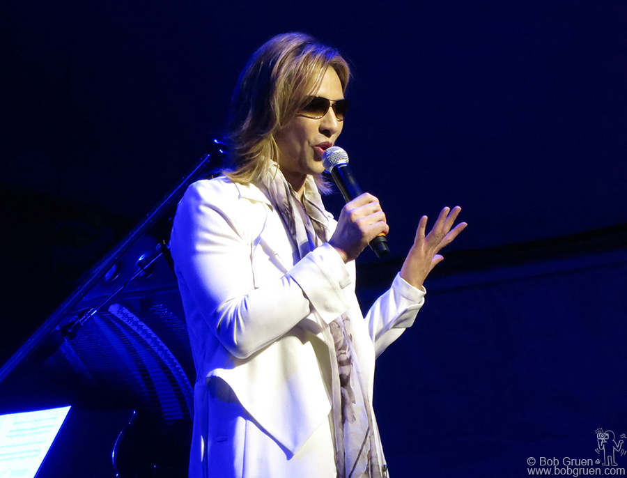 Jan 22 - Park City, UT - Yoshiki Hayashi of X Japan on stage at the Sundance Film Festival to promote the band's new film 'We Are X'.