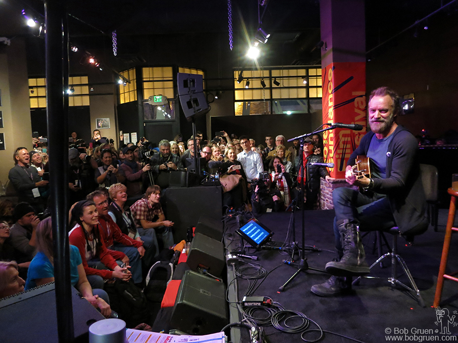 Jan 23 - Park City, UT - Sting put on a very intimate show at the ASCAP Lounge on Main Street during the Sundance Film Festival.