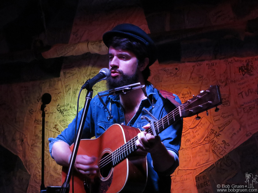 Feb 4 - NYC - Up and coming singer/songwriter Anthony D'Amato on stage at Hill Country BBQ.