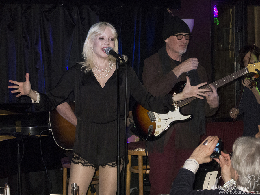 Feb 18 - NYC - Tammy Faye Starlite as Marianne Faithful is joined by her friend Marshall Crenshaw on stage at Pangea. Tammy is getting well deserved great reviews for her interpretations of Marianne's life story.