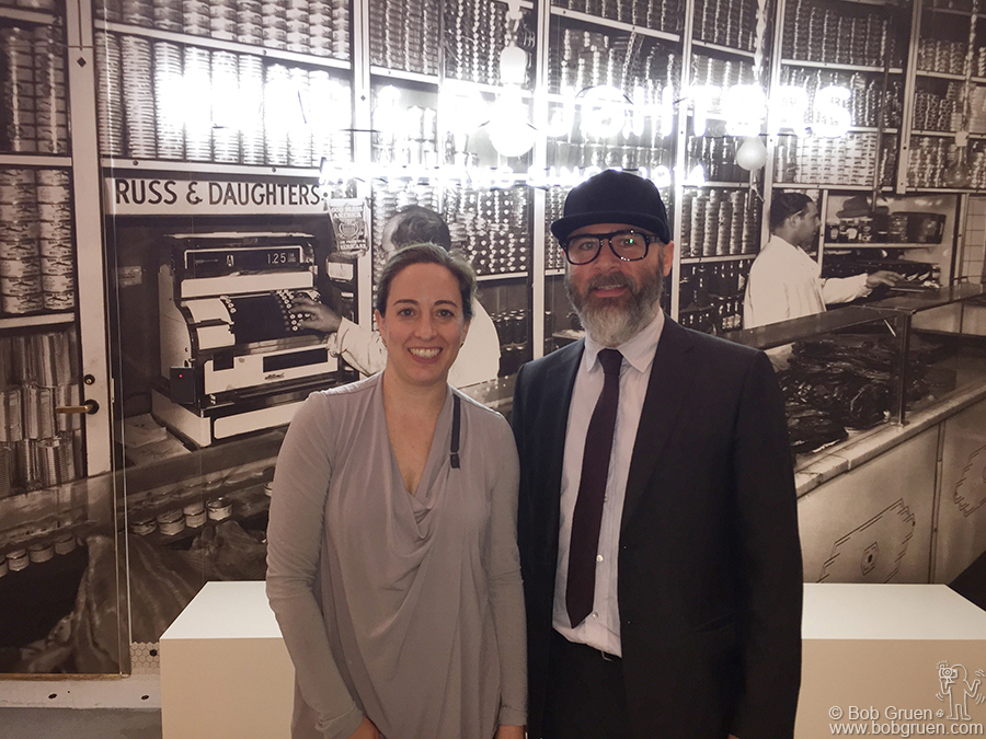 Feb 21 - NYC - Fourth generation owners Niki Russ Federman and Josh Russ Tupper celebrate the opening of the new Russ and Daughters cafe at the New York Jewish Museum. Stop in for a nosh!