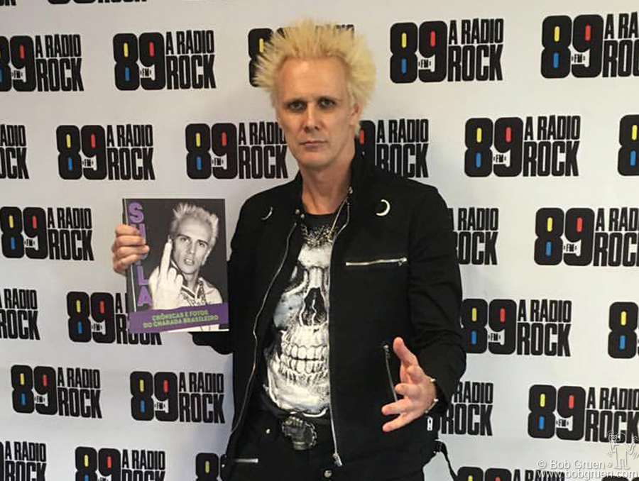 Sao Paulo, Brazil - Supla promoting the release of his autobiography 'Cronicas E Fotos Do Charada Brasileiro' with a Bob Gruen photo on the cover!