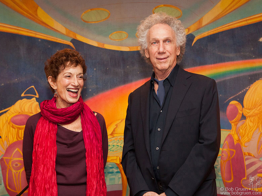 Nov 12 - NYC - Carol Klenfner and Bob Gruen talked about the Rolling Stones 'Exile' tour of 1972 at a party for the release of the Jose Cuervo Rolling Stones label tequila at Electric Ladyland Studio.
