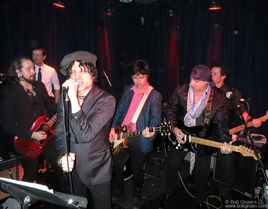 Dec 31 - NYC - Jesse Malin and Billie Joe Armstrong hosted a secret New Year's Eve party at Berlin on Ave A and were joined onstage by Steven Van Zandt.