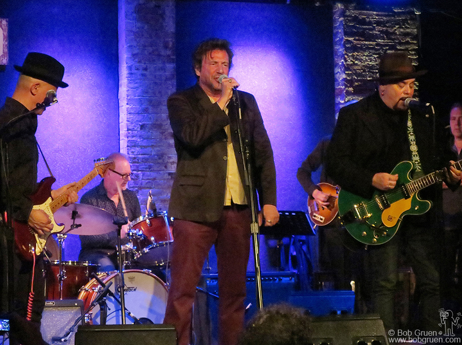 """May 4 – NYC – Richard Hell on stage during """"Heart On Fire: Concert For Ivan Julian"""" benefit at City Winery."""