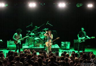 May 11 - Brooklyn - Speedy Ortiz on stage at the Warsaw.