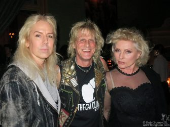 May 18 - NYC - Miss Guy, Jimmy Webb and Debbie Harry of Blondie during Pam Hogg's party at the Soho Grand Hotel.