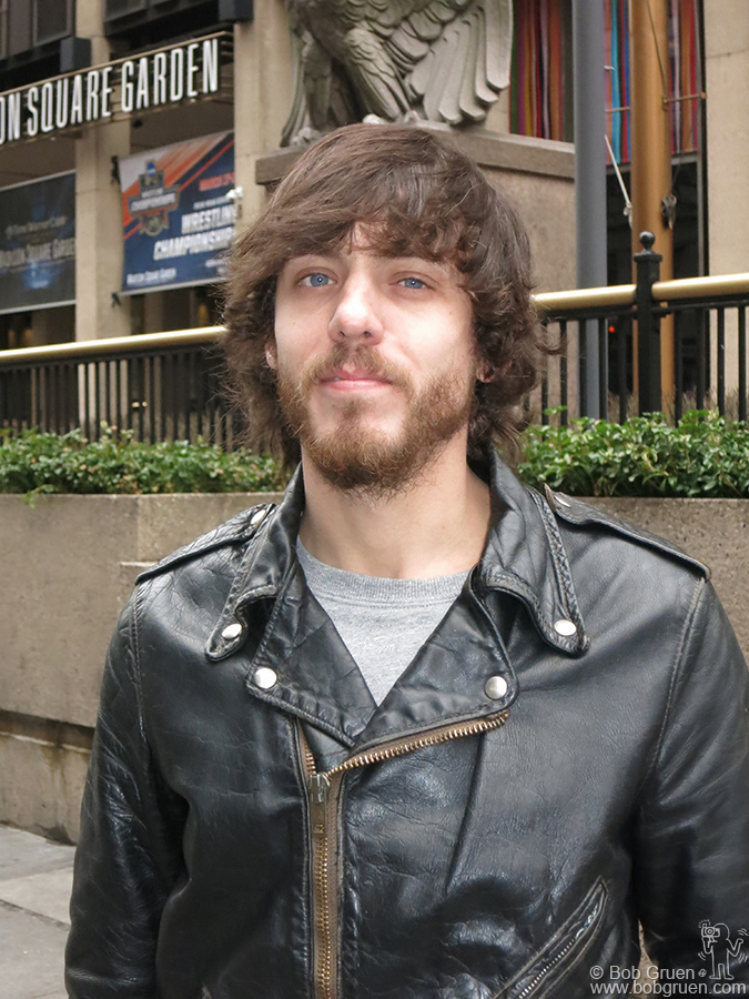 March 15 – NYC – Chris Janson, winner of the Country Music Awards and iHeart Radio Awards for the best Country Song of the Year, 'Buy Me A Boat',  posing in front of Madison Square Garden, where he might get to play someday.