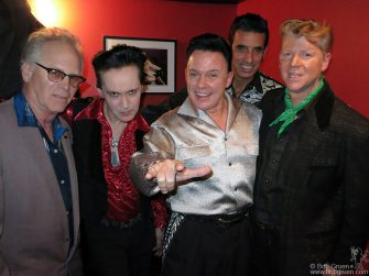 March 17 - NYC - Levi and The Rockats backstage during Max's Kansas City's 50th Anniversary party at Bowery Electric.