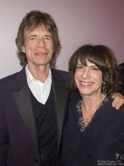 "April 4 - London - Mick Jagger of the Rolling Stones and curator Ileen Gallagher during the opening of ""Exhibitionism: The Rolling Stones"" at Saatchi Gallery."