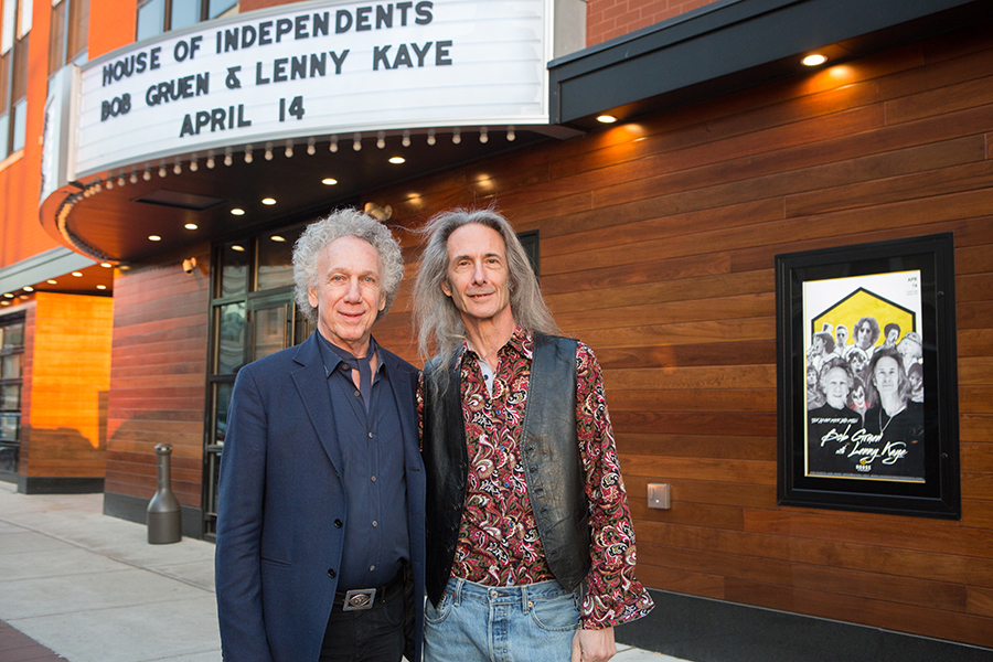April 14 – Asbury Park, NJ – Me and Lenny Kaye before our talk on Rock & Roll memories at the House Of Independents. Photo by David Appel.