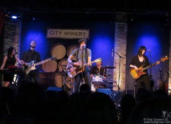 June 17 - NYC - Jesse Malin and his band on stage at City Winery.