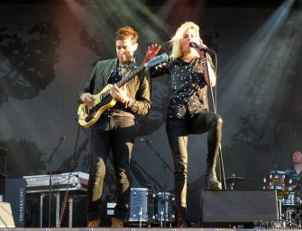 July 14 - Brittany - The Kills on stage during the Vieilles Charrues Festival in Brittany, France.