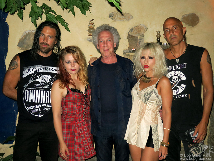 July 22 – Crete – The Barb Wire Dolls were our hosts in Crete and threw a party for us there at the Icarus Art Commune.