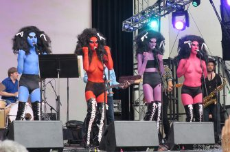 Voluptuous Horror of Karen Black on stage during the Lou Reed Tribute at Lincoln Center.