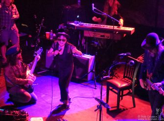 Aug 30 - NYC - Sean Lennon, Yoko Ono and Les Claypool on stage at Irving Plaza.