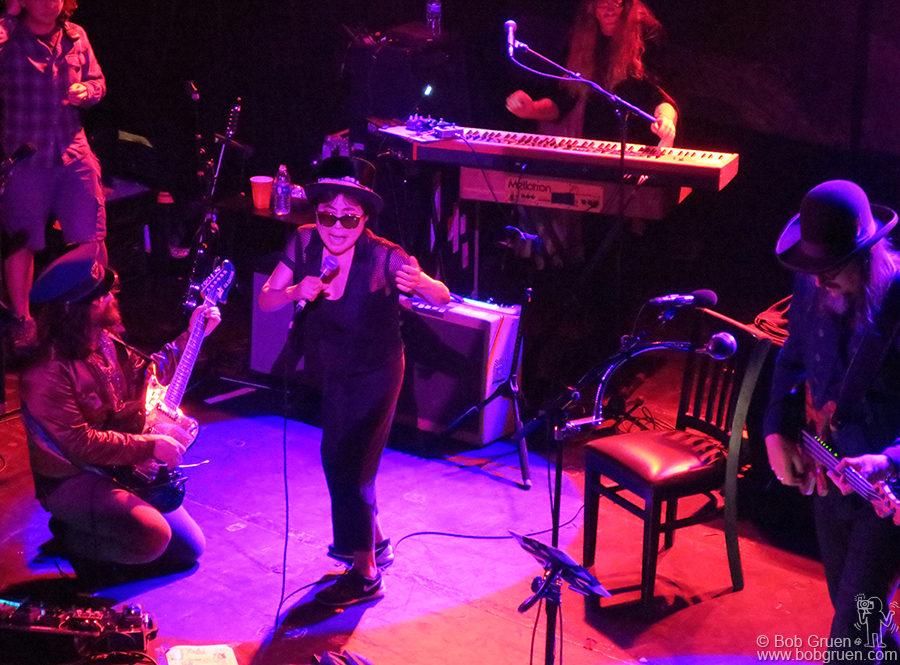 Aug 30 – NYC – Yoko Ono joined her son Sean and Les Claypool on stage at Irving Plaza, and blew the house away with her signature vocal style.