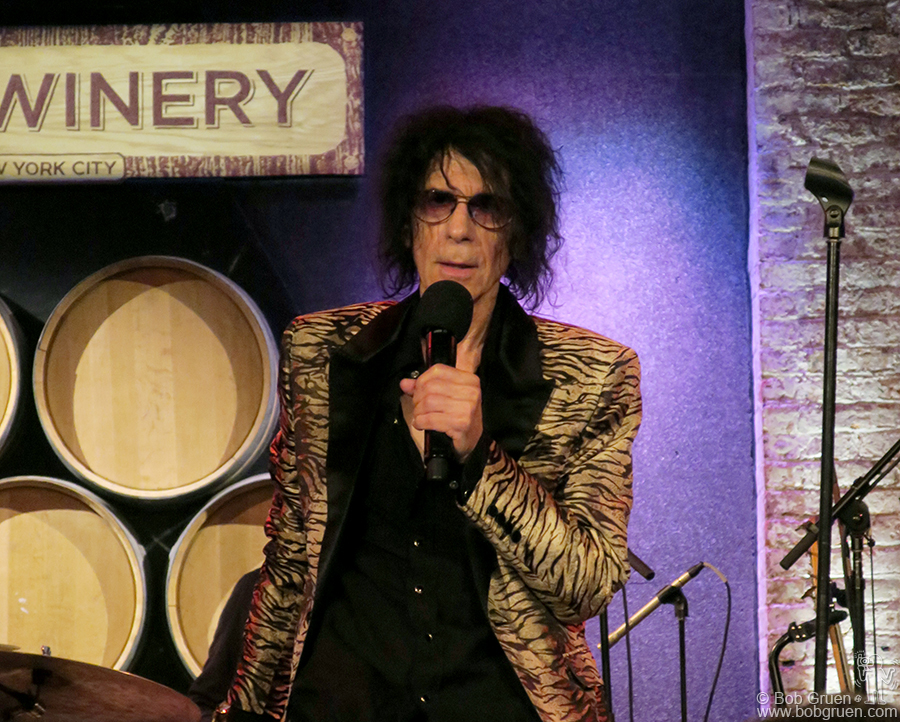 Sept 8 – NYC – On stage at the City Winery Peter Wolf showed that he was the most authentic singer around. Check out his new album 'A Cure for Loneliness'.