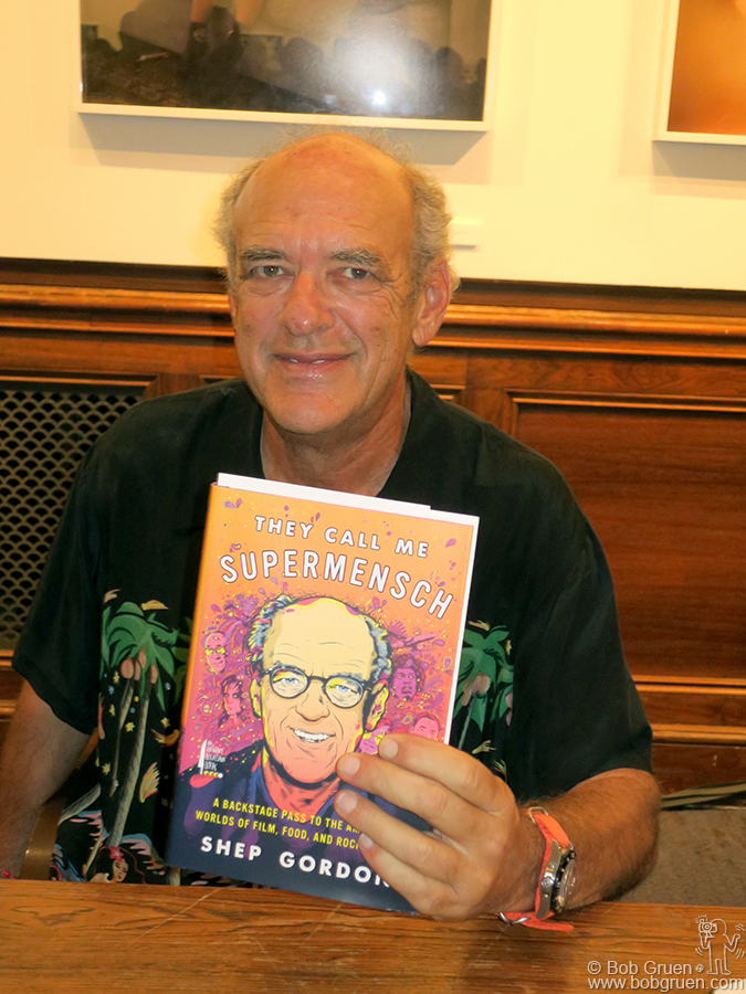 "Sept 22 – NYC – Shep Gordon during the release of his new autobiography book ""They Call Me Supermensch"" at the 92nd Street Y."