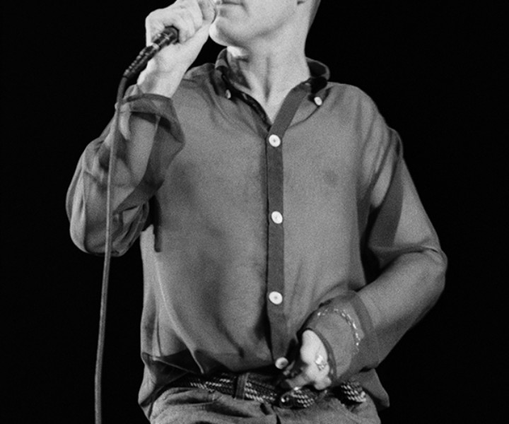 Morrissey, MSG, NYC. July 13, 1991. <P>Image #: NMS791_8-16a_1991  © Bob Gruen