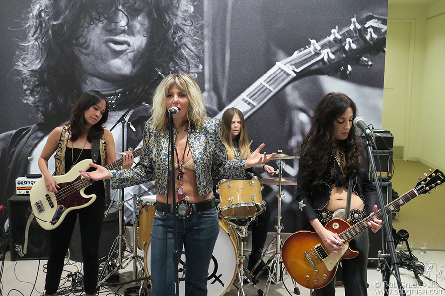 Dec 8 – NYC – Tribute band Lez Zeppelin played at the party for the Rock and Roll auction at Sotheby's.