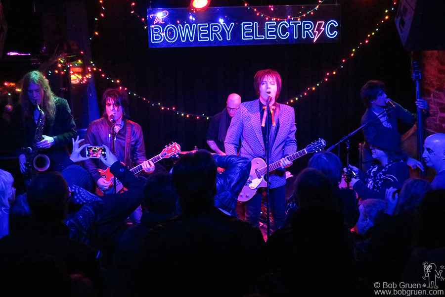 Dec 22 – NYC – Jim Jones with Steve Conte on stage at Bowery Electric.
