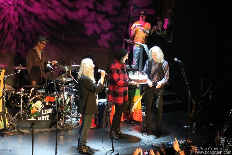 Dec 27 – NYC – Patti Smith and Lenny Kaye performing at Lenny's 70th birthday party at Bowery Ballroom.