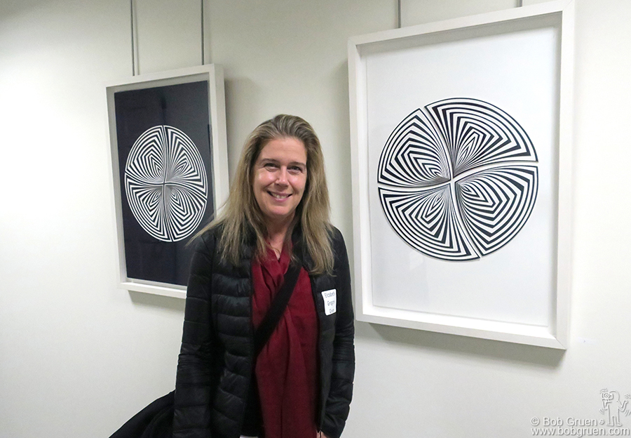 Jan 26 – Morristown, NJ – My wife Elizabeth Gregory-Gruen at the opening of her exhibit at Morristown Arts.
