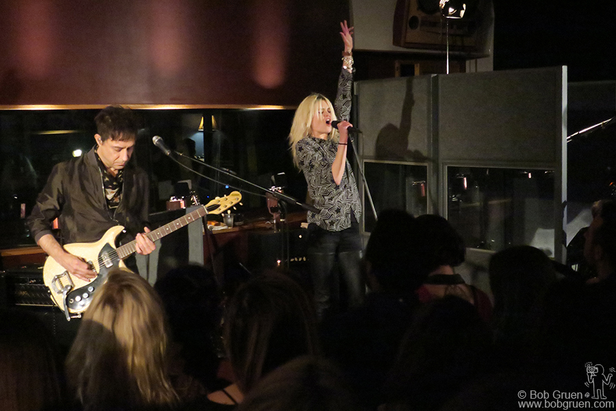 Feb 14 – NYC – The Kills during their private 15th Anniversary show at Electric Ladyland Studio.