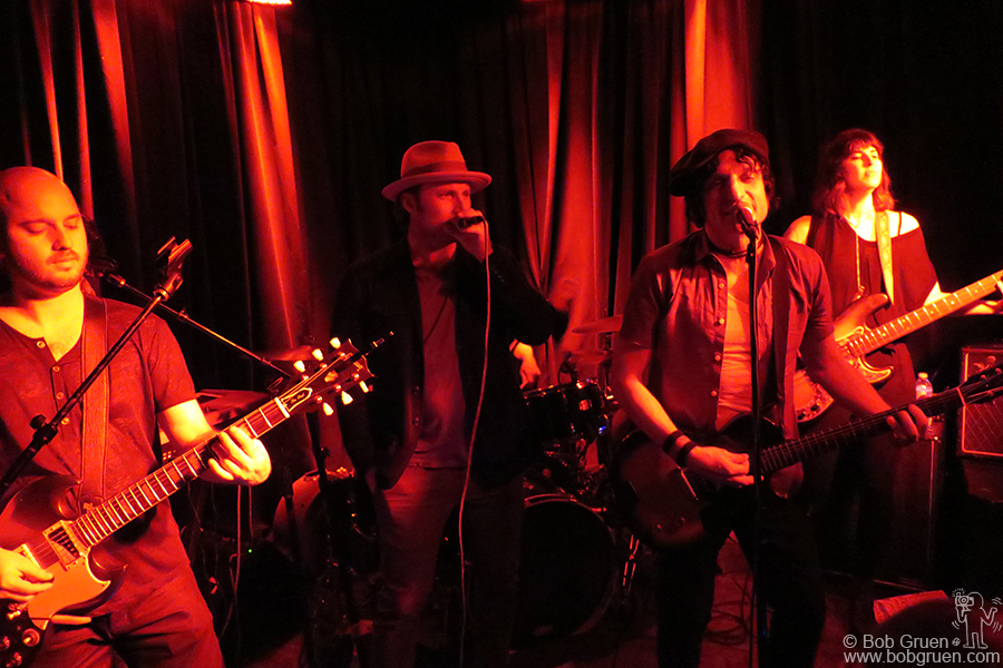 March 11 – NYC – Jesse Malin and his band with guest Chris Stills on stage at Berlin club.