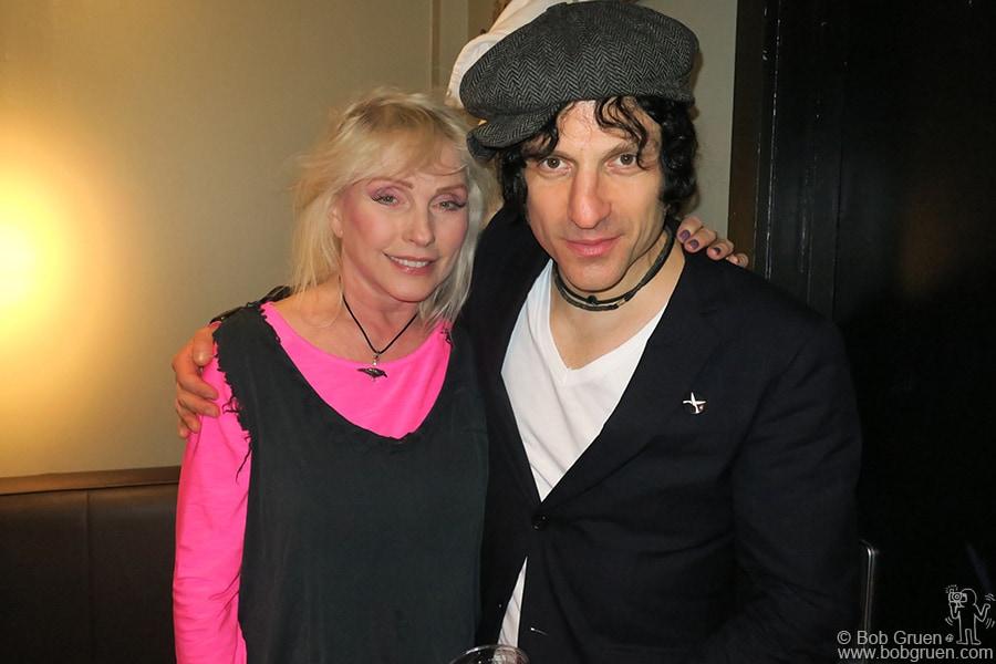 Nov 15 – NYC – Debbie Harry and Jesse Malin backstage at the Stephen Saban benefit at Webster Hall.