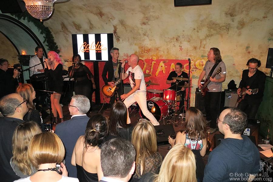 Dec 1 – NYC – Blondie tribute band Baldie on stage at Django club in the Roxy Hotel.