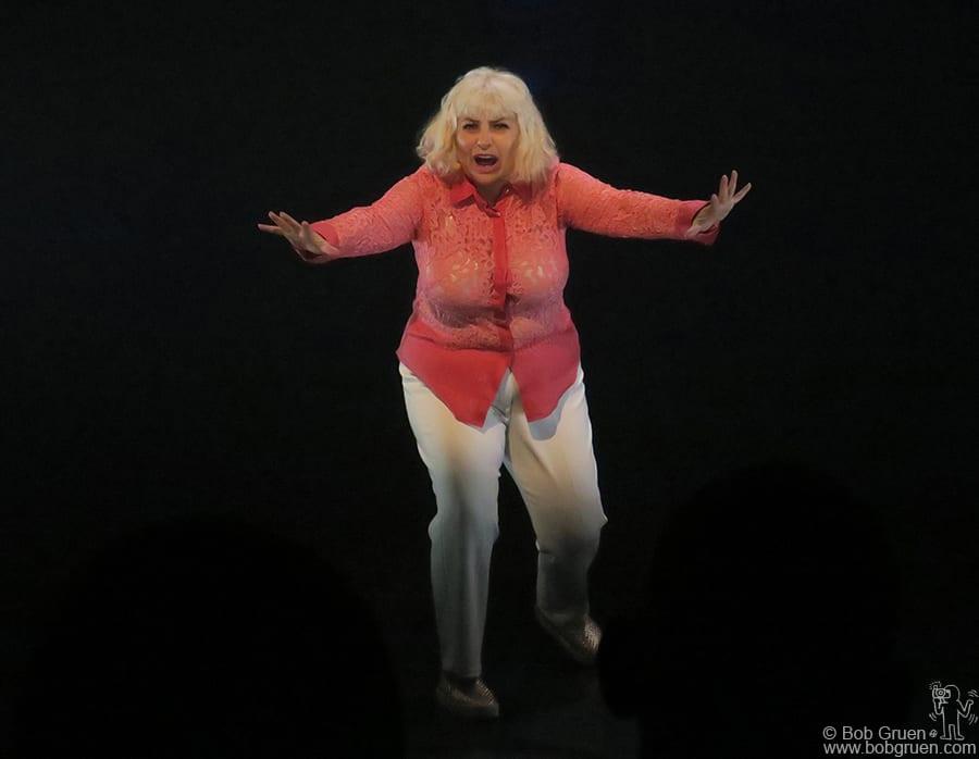 Dec 6 – Brooklyn – Performance artist Penny Arcade on stage at St. Ann's Warehouse in Brooklyn.