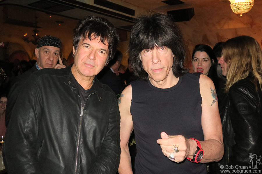 "May 16 – NYC – The best drummers in punk rock, Clem Burke of Blondie and Marky Ramone of the Ramones during Mick Rock's ""As If"" magazine party at the Roxy Hotel."
