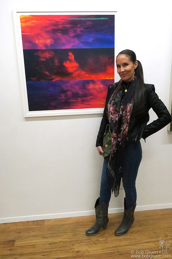 April 7 – NYC – Artist Nikki Kine showed her iPhone photo work at the Mason Gallery.