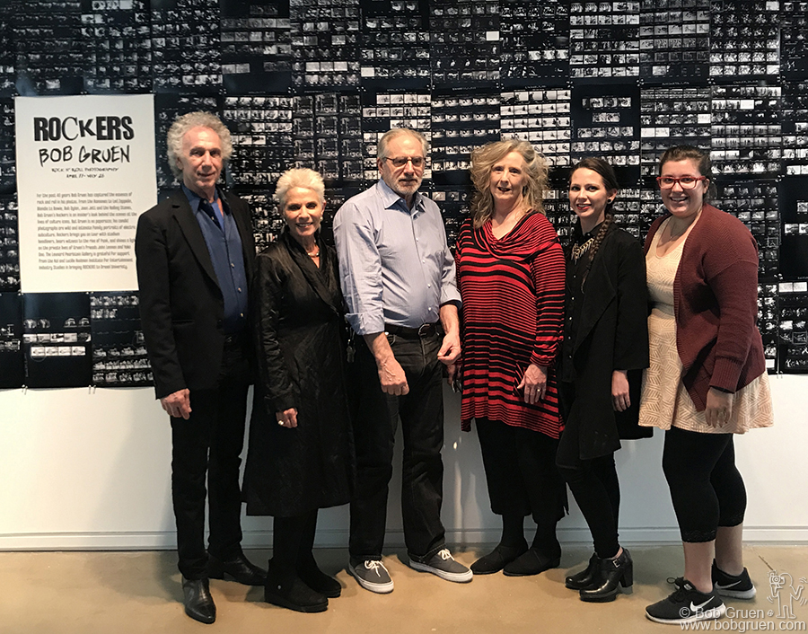 May 3 – Philadelphia – TV news personality Rona Elliot led a discussion about my work and later posed for a photo next to me with Orlando Pelliccia, Karen Curry, Leah Appleton and Felicia Knise in front of the wall of contact prints at my exhibit at the Pearlstein Gallery at Drexel University.
