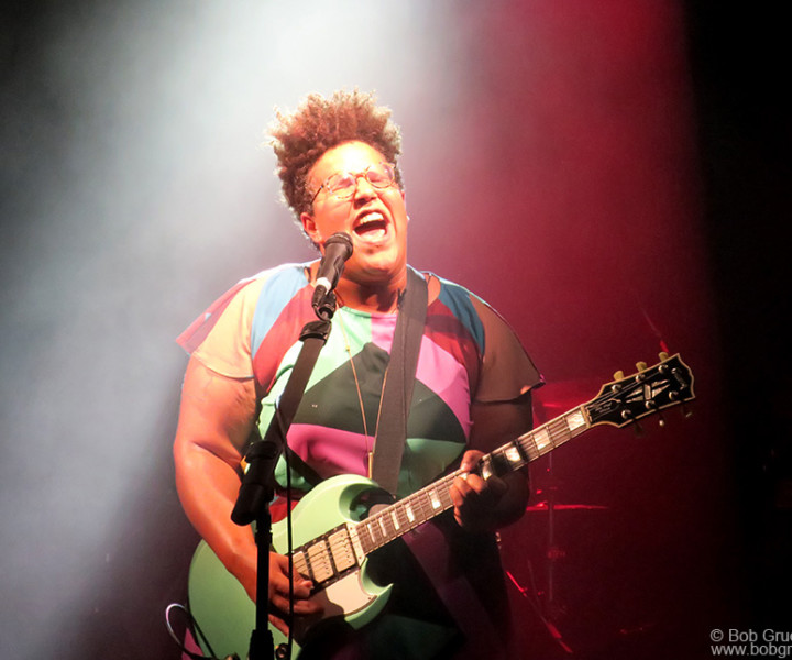 May 24 – NYC – Brittany Howard of the Alabama Shakes during a Sailor Jerry party for Fleet Week on stage at the Intrepid Air and Space Museum.