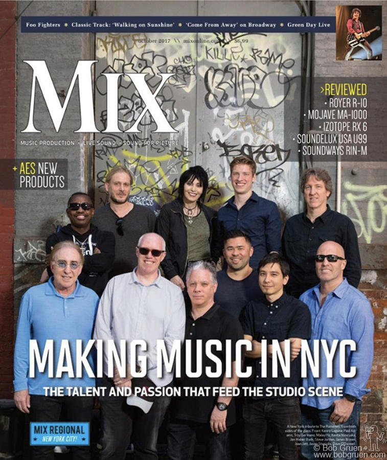 June 26 – NYC – I took the photos of Troy Germano with Joan Jett and producers who worked at the Germano Studio for the cover of Mix Magazine.