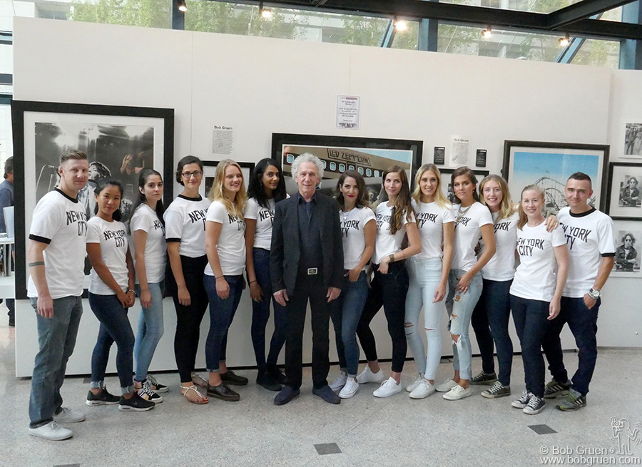 Aug 10 – Vancouver – Brian Liss of Liss Gallery in Toronto organized an exhibit of my photos in Vancouver at the Pendulum Gallery. On the way back from Japan we stopped there for the opening party, and Brian had all the staff wearing NYC shirts!