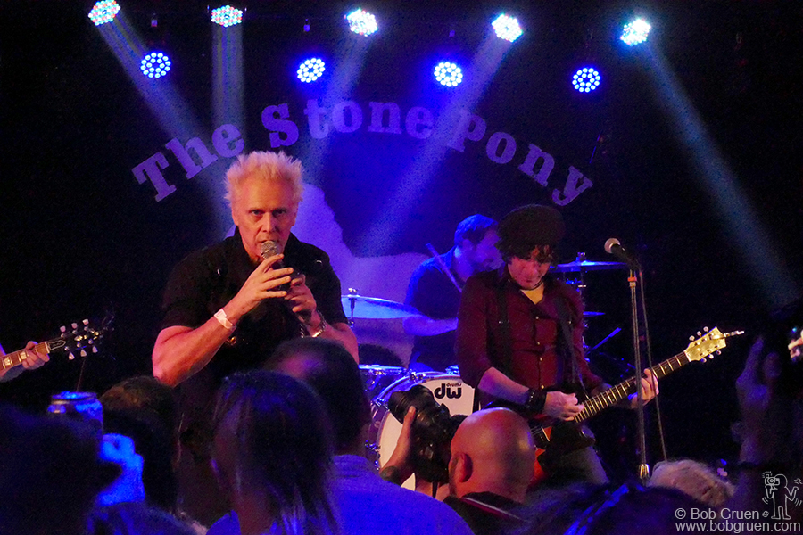 Aug 19 – Asbury Park – Supla came from Brazil and joined Jesse Malin on stage during the Joe Strummer tribute show at the Stone Pony.