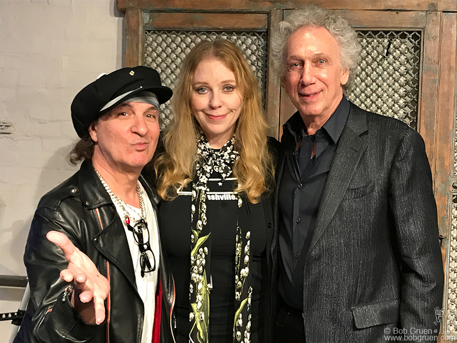 "Sept 13 – Nashville – Syl Sylvain and Bebe Buell came to my  ""Rock Seen"" talk and book signing at the ""Two Old Hippies"" store."
