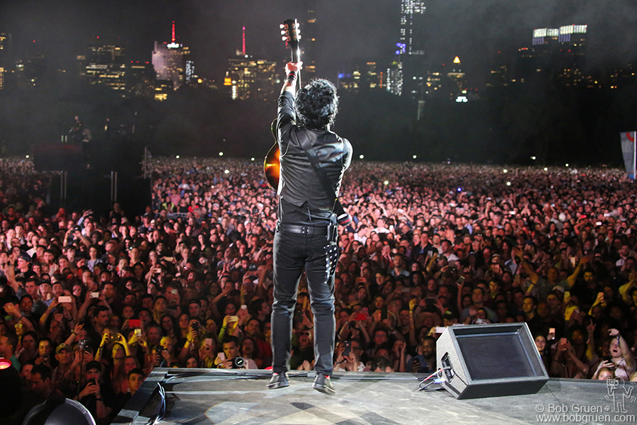 Sept 23 – NYC – Billie Joe Armstrong of Green Day on stage during the Global Citizens Festival in Central Park.