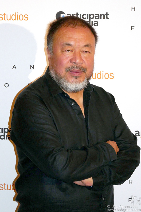 "Oct 10 – NYC – Ai Weiwei during the screening of his film ""Human Flow"" at the Whitby Hotel."